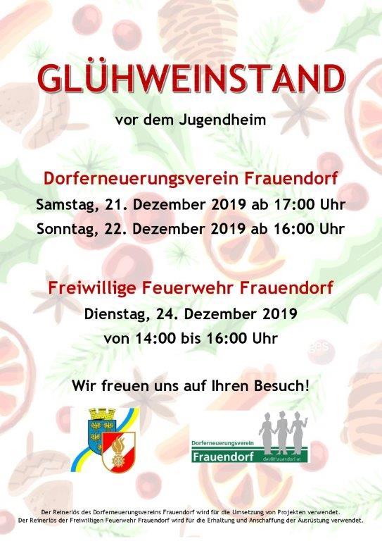 Glühweinstand in Frauendorf
